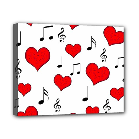 Love Song Pattern Canvas 10  X 8  by Valentinaart