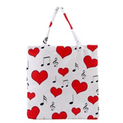 Love Song Pattern Grocery Tote Bag by Valentinaart