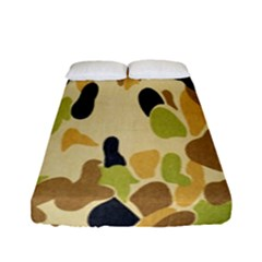 Army Camouflage Pattern Fitted Sheet (full/ Double Size) by Nexatart