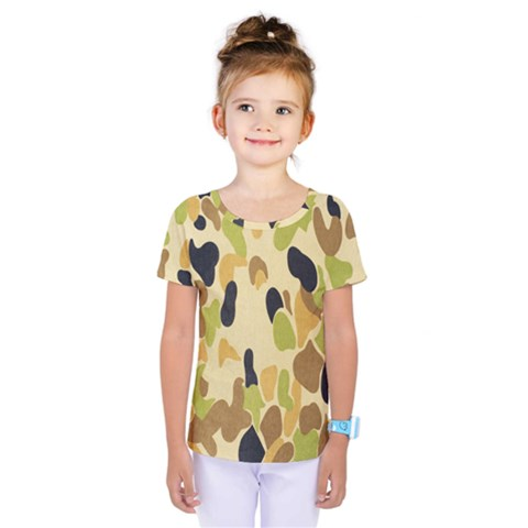 Army Camouflage Pattern Kids  One Piece Tee by Nexatart