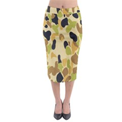 Army Camouflage Pattern Midi Pencil Skirt