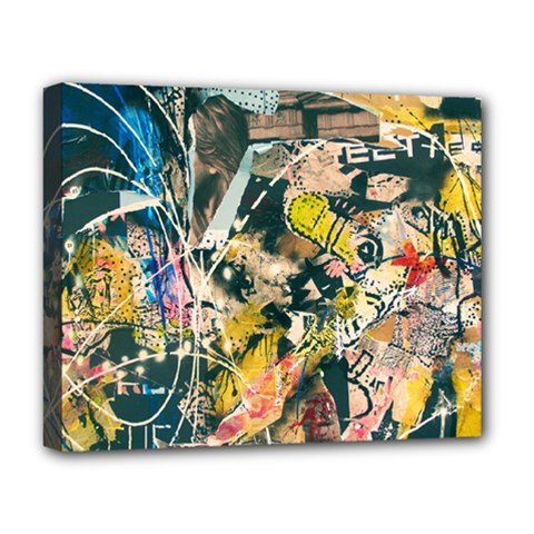 Art Graffiti Abstract Vintage Deluxe Canvas 20  X 16   by Nexatart