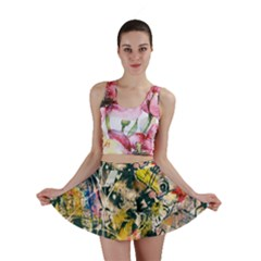 Art Graffiti Abstract Vintage Mini Skirt