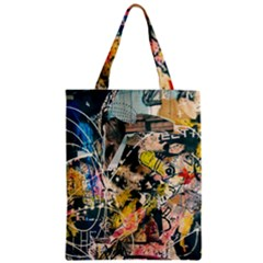 Art Graffiti Abstract Vintage Classic Tote Bag by Nexatart