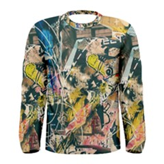 Art Graffiti Abstract Vintage Men s Long Sleeve Tee by Nexatart