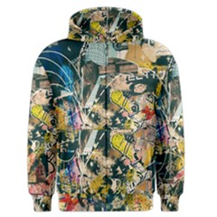 Art Graffiti Abstract Vintage Men s Zipper Hoodie by Nexatart