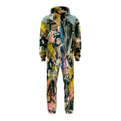 Art Graffiti Abstract Vintage Hooded Jumpsuit (kids) by Nexatart