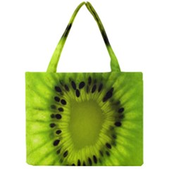 Kiwi Fruit Slices Cut Macro Green Mini Tote Bag by Alisyart