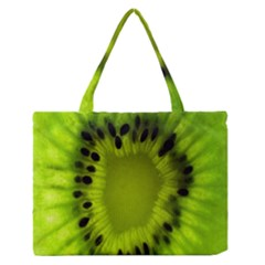 Kiwi Fruit Slices Cut Macro Green Medium Zipper Tote Bag
