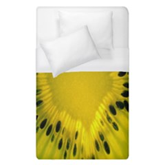 Kiwi Fruit Slices Cut Macro Green Yellow Duvet Cover (single Size) by Alisyart