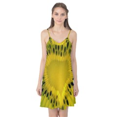 Kiwi Fruit Slices Cut Macro Green Yellow Camis Nightgown by Alisyart