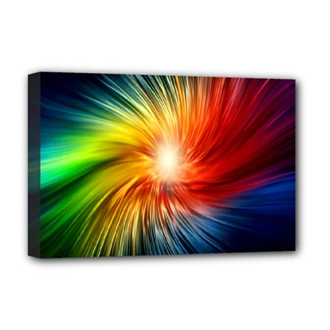 Lamp Light Galaxy Space Color Deluxe Canvas 18  X 12