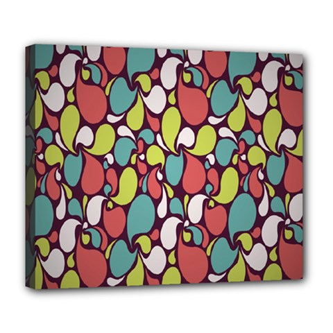 Leaf Camo Color Flower Deluxe Canvas 24  X 20