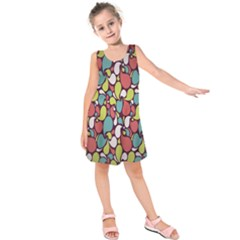 Leaf Camo Color Flower Kids  Sleeveless Dress by Alisyart