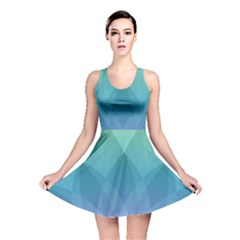 Lotus Events Green Blue Purple Reversible Skater Dress by Alisyart