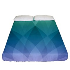 Lotus Events Green Blue Purple Fitted Sheet (queen Size)