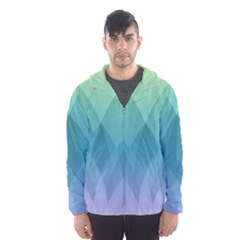 Lotus Events Green Blue Purple Hooded Wind Breaker (men)