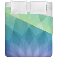 Lotus Events Green Blue Purple Duvet Cover Double Side (california King Size) by Alisyart
