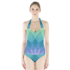 Lotus Events Green Blue Purple Halter Swimsuit by Alisyart