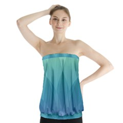 Lotus Events Green Blue Purple Strapless Top by Alisyart