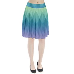 Lotus Events Green Blue Purple Pleated Skirt