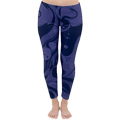 Marble Blue Marbles Classic Winter Leggings