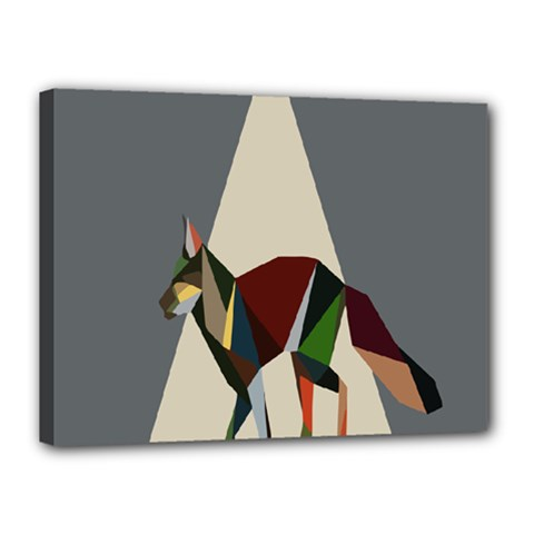 Nature Animals Artwork Geometry Triangle Grey Gray Canvas 16  X 12