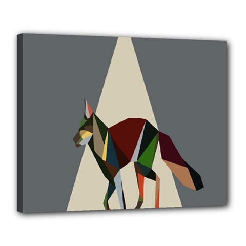Nature Animals Artwork Geometry Triangle Grey Gray Canvas 20  X 16  by Alisyart