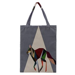 Nature Animals Artwork Geometry Triangle Grey Gray Classic Tote Bag by Alisyart
