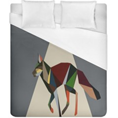 Nature Animals Artwork Geometry Triangle Grey Gray Duvet Cover (california King Size)