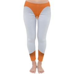 Orange White Egg Easter Classic Winter Leggings