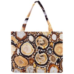 Natural Agate Mosaic Mini Tote Bag by Alisyart