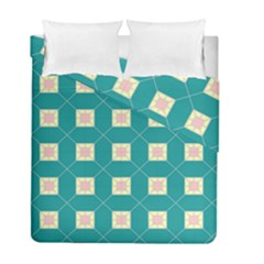 Regular Triangulation Plaid Blue Duvet Cover Double Side (full/ Double Size)