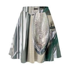 Auto Automotive Classic Spotlight High Waist Skirt