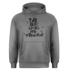 Grey This Boy Loves His Girlfriend  Men s Pullover Hoodie by FunnySaying