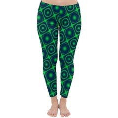 Plaid Green Light Classic Winter Leggings