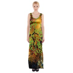 Backdrop Background Tree Abstract Maxi Thigh Split Dress by Nexatart