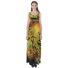 Backdrop Background Tree Abstract Empire Waist Maxi Dress