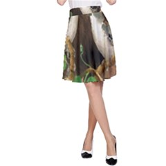 Backdrop Colorful Bird Decoration A Line Skirt by Nexatart