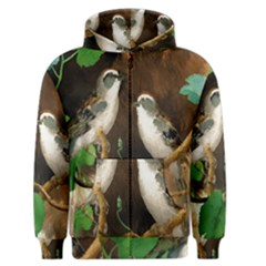 Backdrop Colorful Bird Decoration Men s Zipper Hoodie by Nexatart