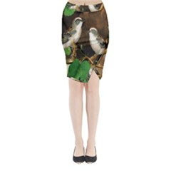 Backdrop Colorful Bird Decoration Midi Wrap Pencil Skirt
