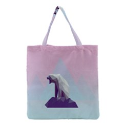 Polar Bears Animals White Grocery Tote Bag