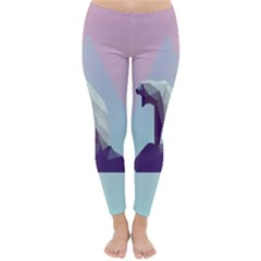 Polar Bears Animals White Classic Winter Leggings