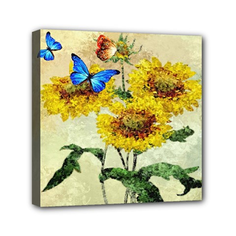 Backdrop Colorful Butterfly Mini Canvas 6  X 6