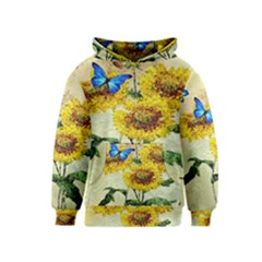 Backdrop Colorful Butterfly Kids  Pullover Hoodie