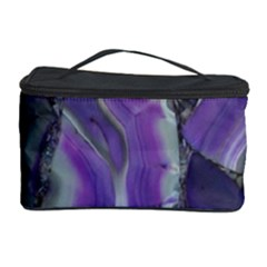 Purple Agate Natural Cosmetic Storage Case by Alisyart