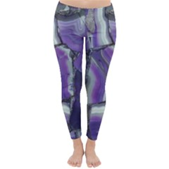 Purple Agate Natural Classic Winter Leggings