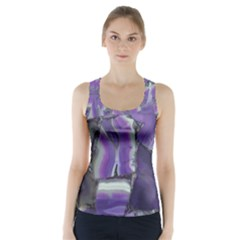 Purple Agate Natural Racer Back Sports Top