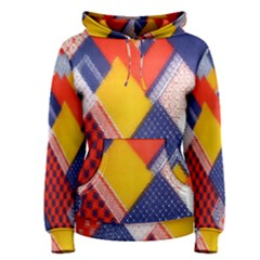 Background Fabric Multicolored Patterns Women s Pullover Hoodie by Nexatart