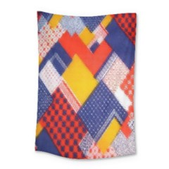 Background Fabric Multicolored Patterns Small Tapestry